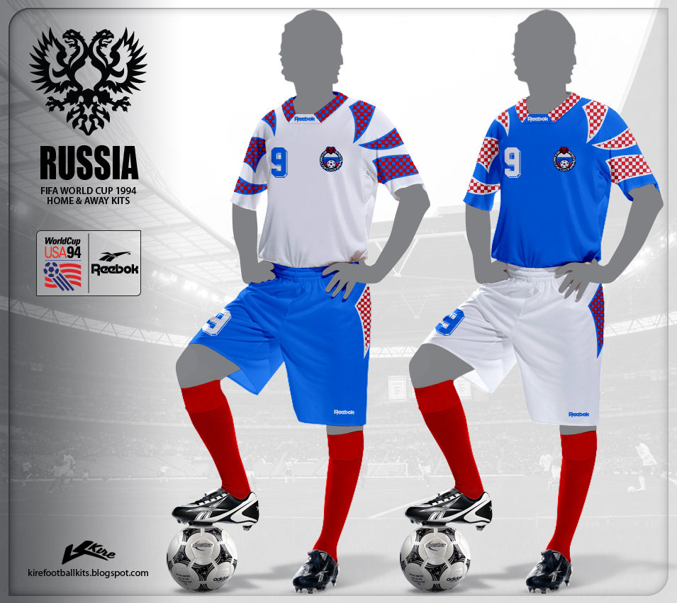 Russia Home and Away Kits World Cup 1994